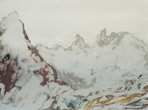 1 Col du Carro Gouache 27×36 cm 1998