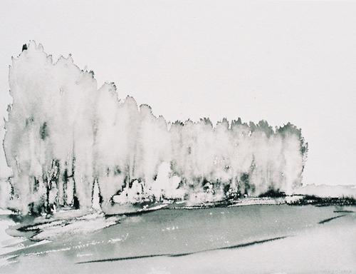 1 Landschap OI-inkt 25× 37 cm 2007