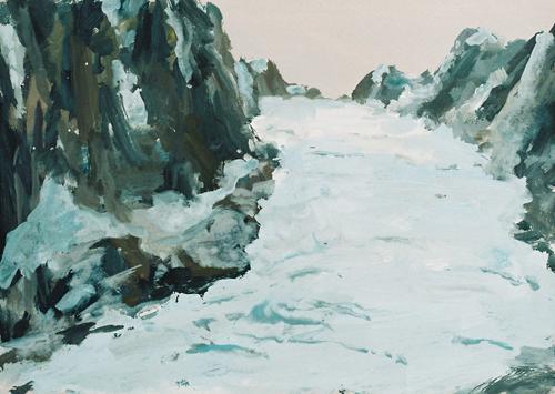 3 Gletsjer Gouache 26×37 cm 1996