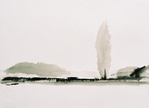 3 Landschap OI-inkt 25×35 cm 2007