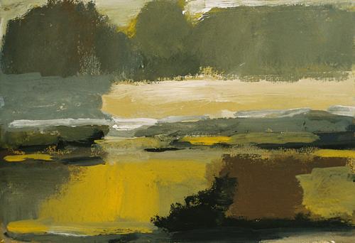 6 Landschap Gouache 19×27 cm 2003