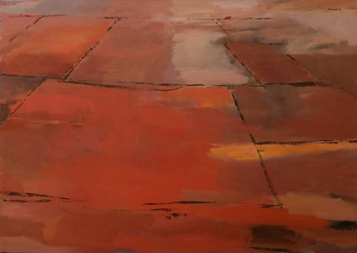 _DSC0981 Vloer in Brancion Olieverf 100×140 cm 2000
