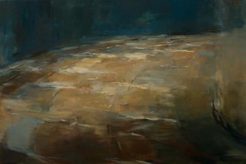 _DSC0986 Vloer in Saint Benoît Olieverf 100×150 cm 2006