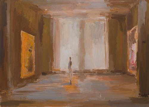 _DSC1342 Interieur Gouache 49,5 × 69 cm 2009