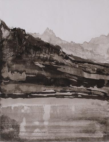 _DSC3386 Lac du Mont Cenis O.I.-inkt 45 x 34,5 cm 2010