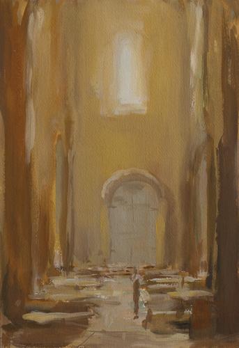 _DSC3964 Anzy-le-Duc Gouache 34,5 x 25 cm 2011