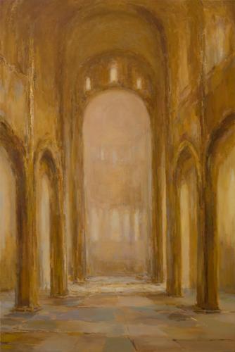 _DSC5373 Paray-le-Monial Olieverf 150 x 100 cm 2014