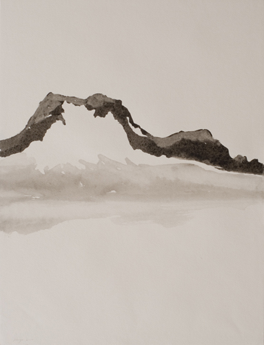 _DSC3648 Lac du Mont Cenis O.I. - inkt 45 x 35 cm 2010