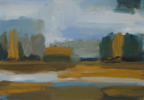 _DSC6167 Landschap Gouache 19 x 27 cm 2003