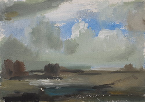 _DSC6194 Landschap Gouache 19 x 27 cm 2005